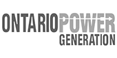 Ontario Power Generation logo in gray