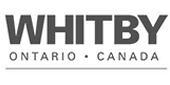 Whitby Ontario Canada Logo in gray